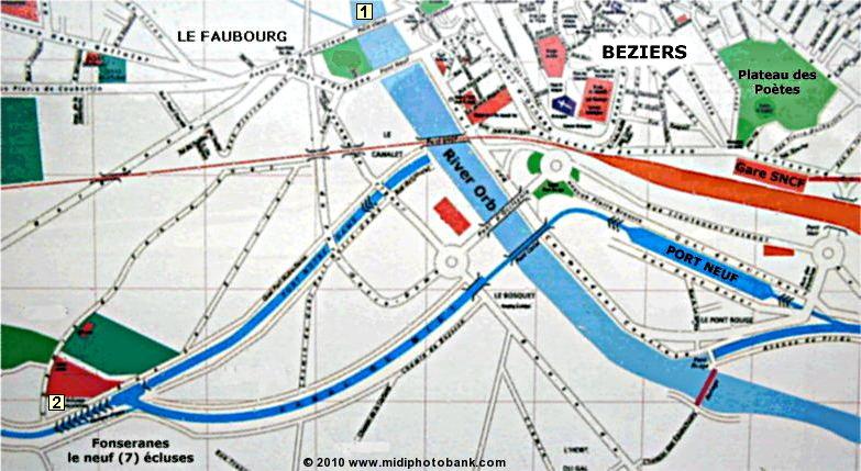 Midi Canal Bziers les Ecluses de Fonseranes